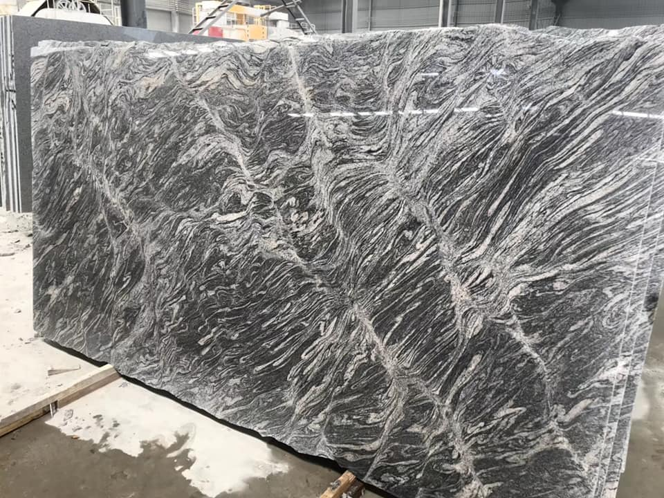 Chinese Juparana Granite Polished Grey Granite Slabs