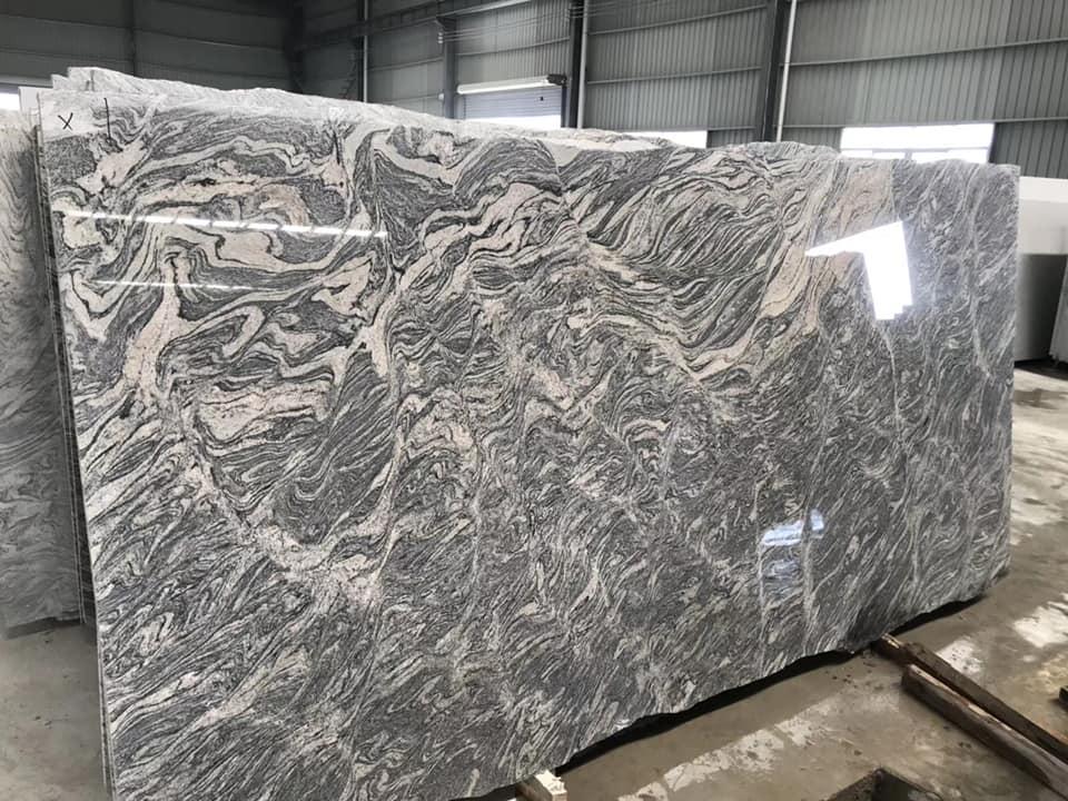 Chinese Juparana Granite Slabs Polished Granite Grey Slabs