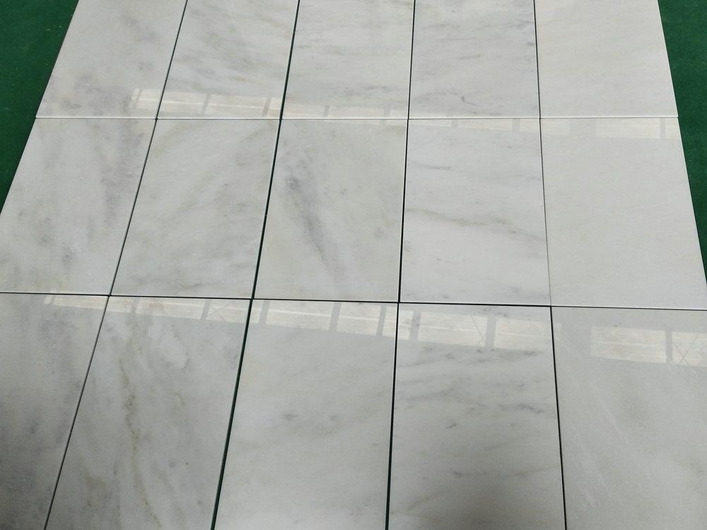 Chinese Kangba Jade White Tiles Polished White Marble Tiles