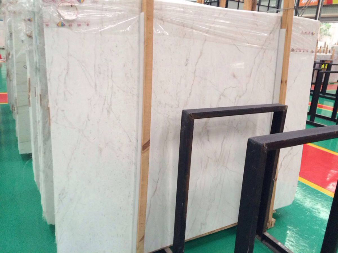 Chinese L White Marble Polished Slabs