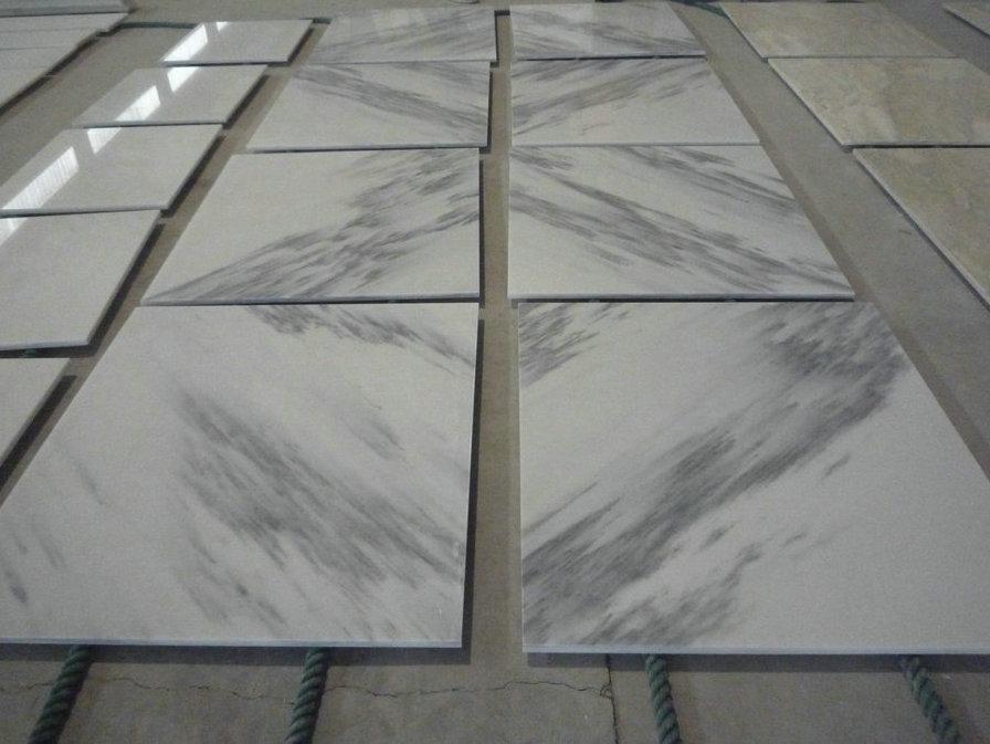 Chinese Landscape White Marble Polished Tiles