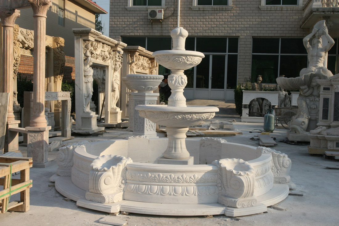 Chinese Marble Stone Fountains White Natural Stone Fountains