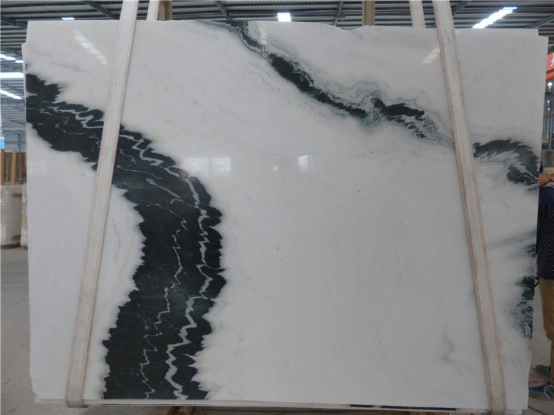 Chinese Panda White Marble Slabs Polished Slabs