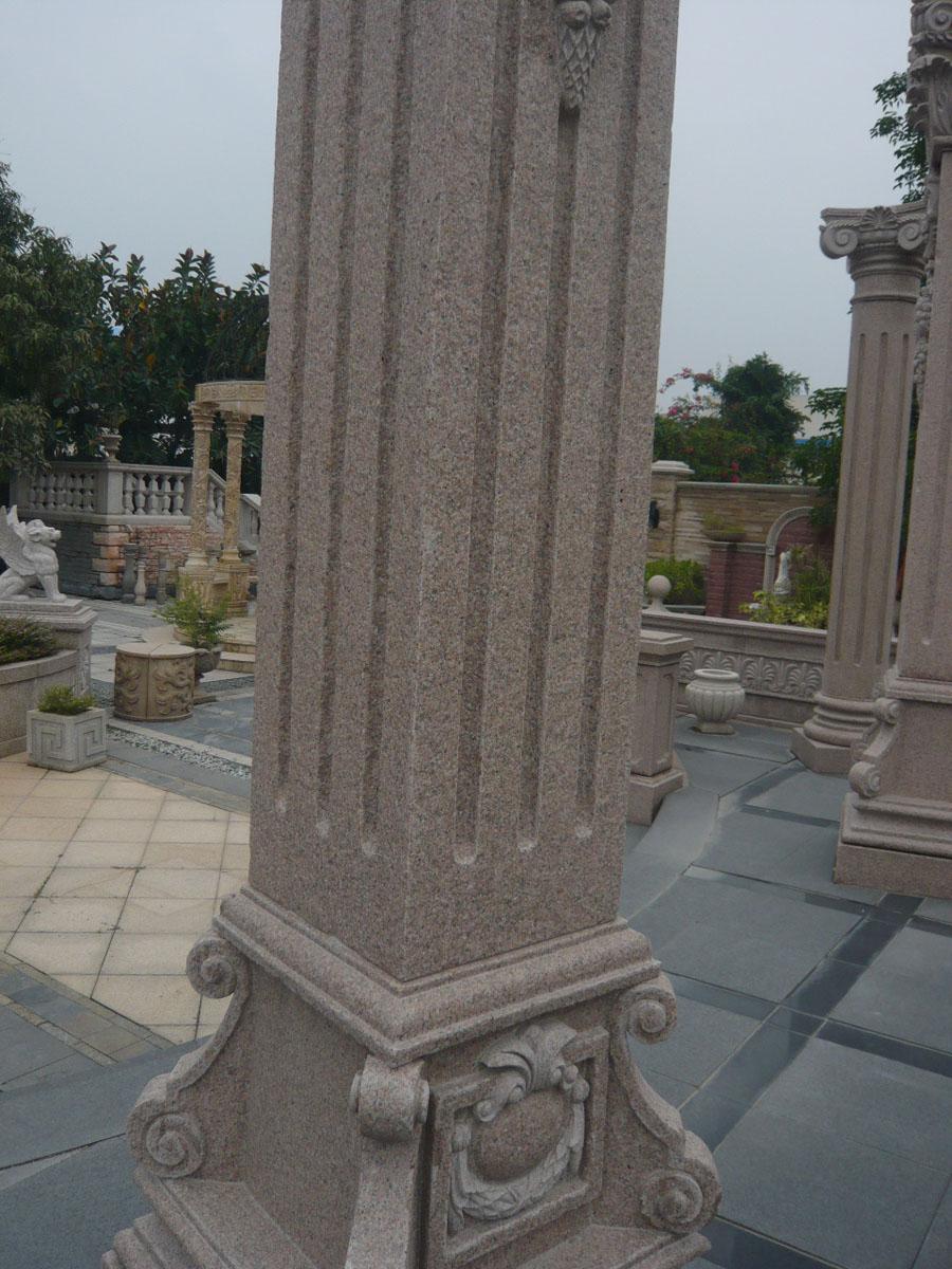 Chinese Pink Granite Columns