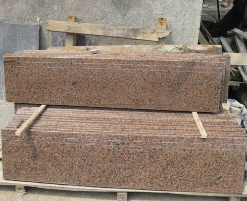 Chinese Pink Granite Stone Steps
