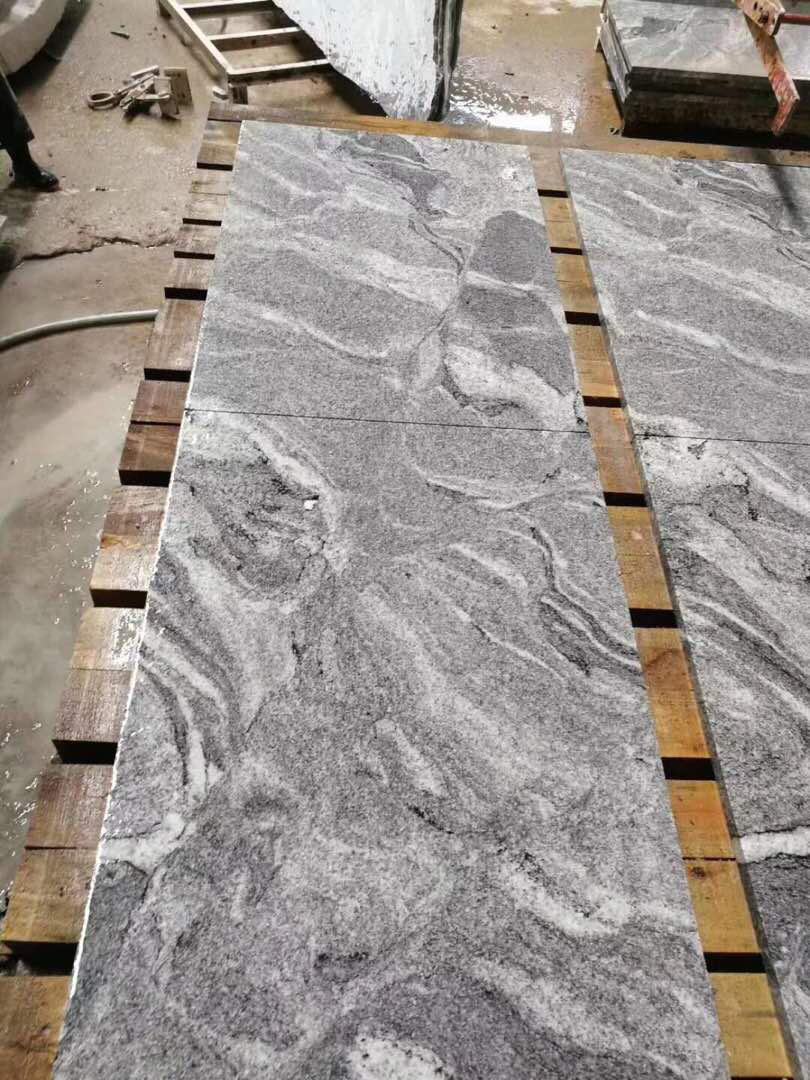 Chinese Polished Fantacy Grey Granite Tiles for Walling