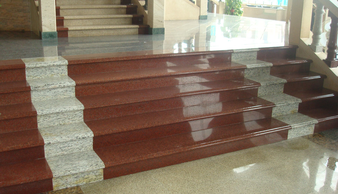 Chinese Polished Granite Red Steps