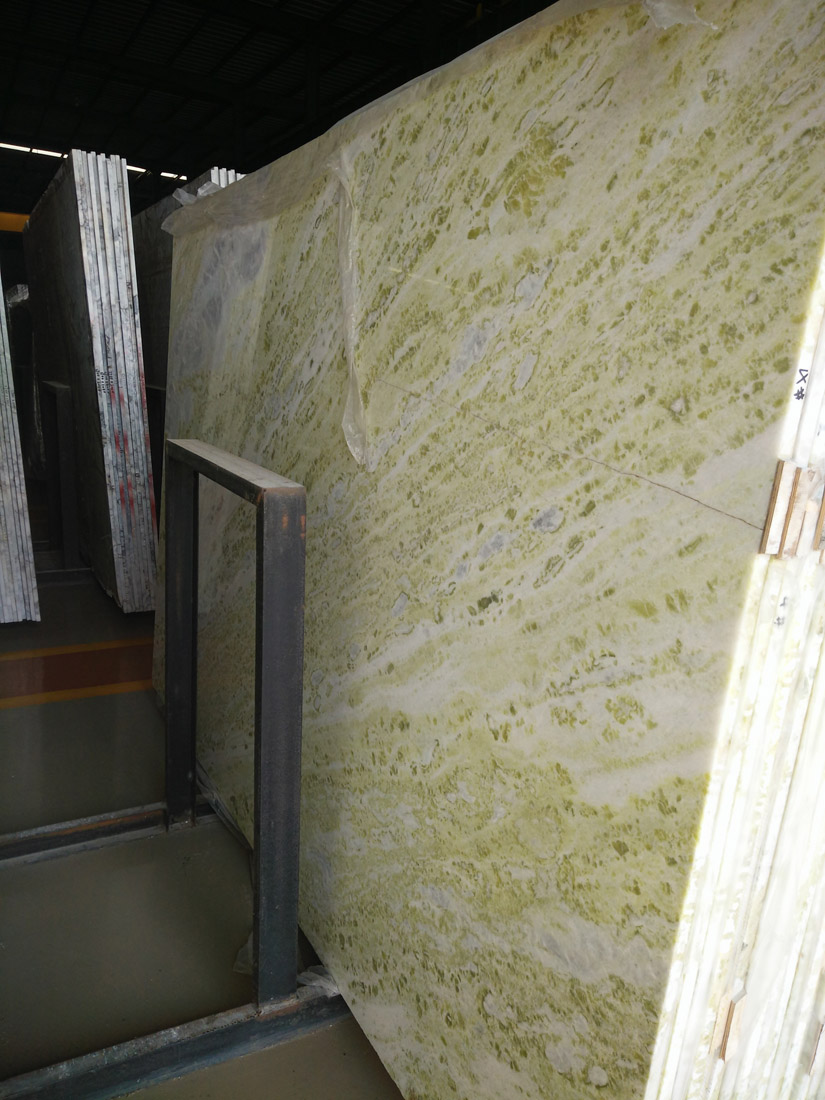 Chinese Polished Green Marble Slabs