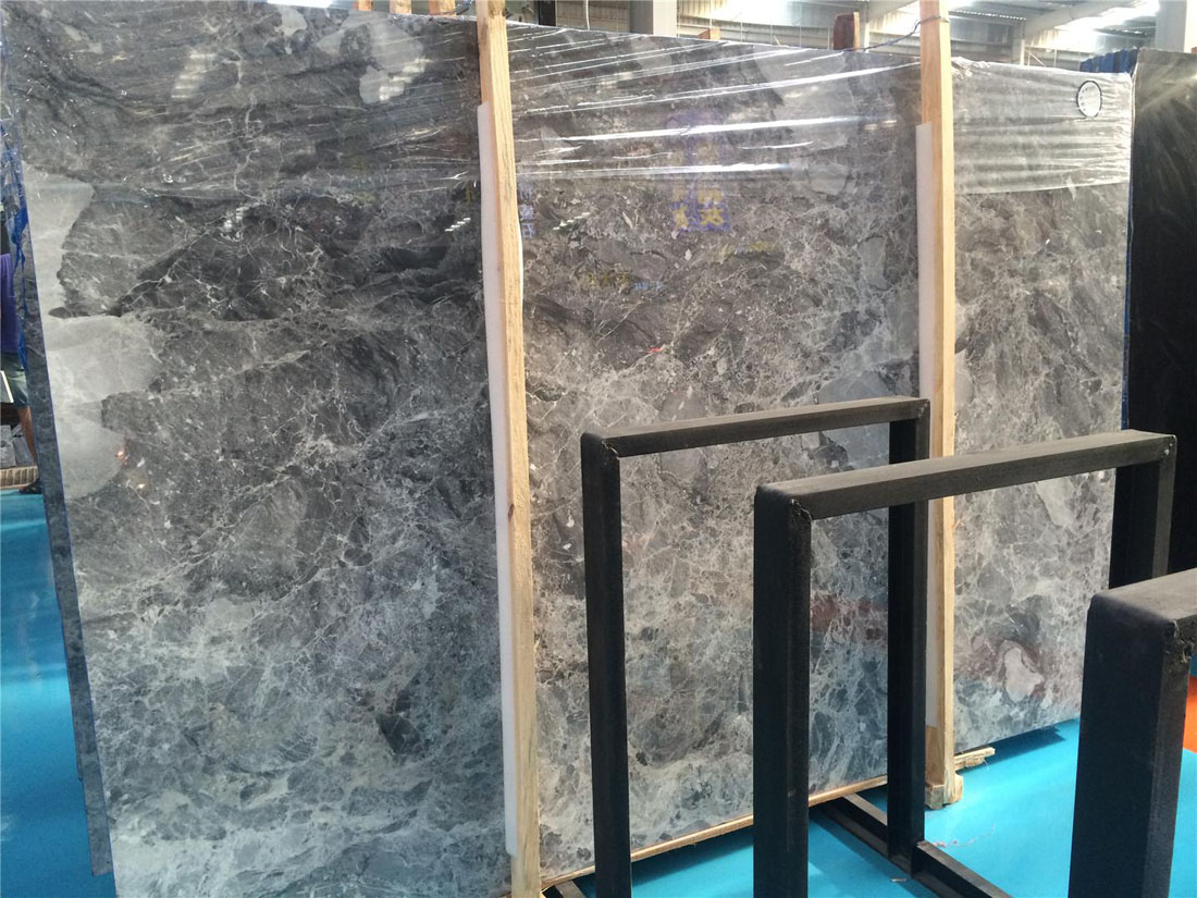 Chinese Polished Grey Marble Natural Marble Slabs
