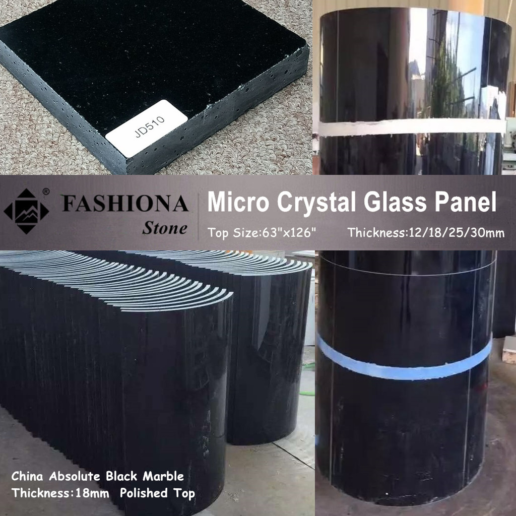 Chinese Polished Micro Crystal Glass Stone Columns