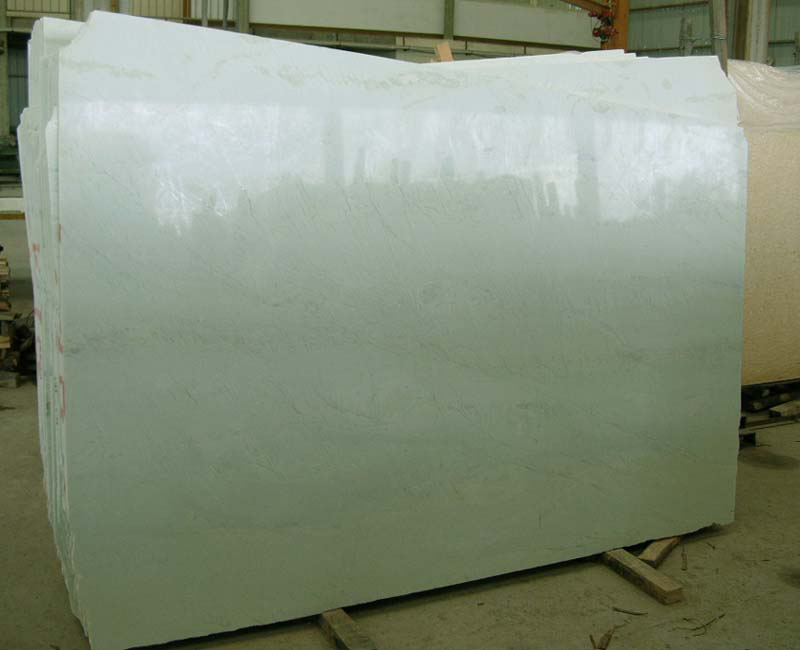 Chinese Polished Ming Green Marble Slabs