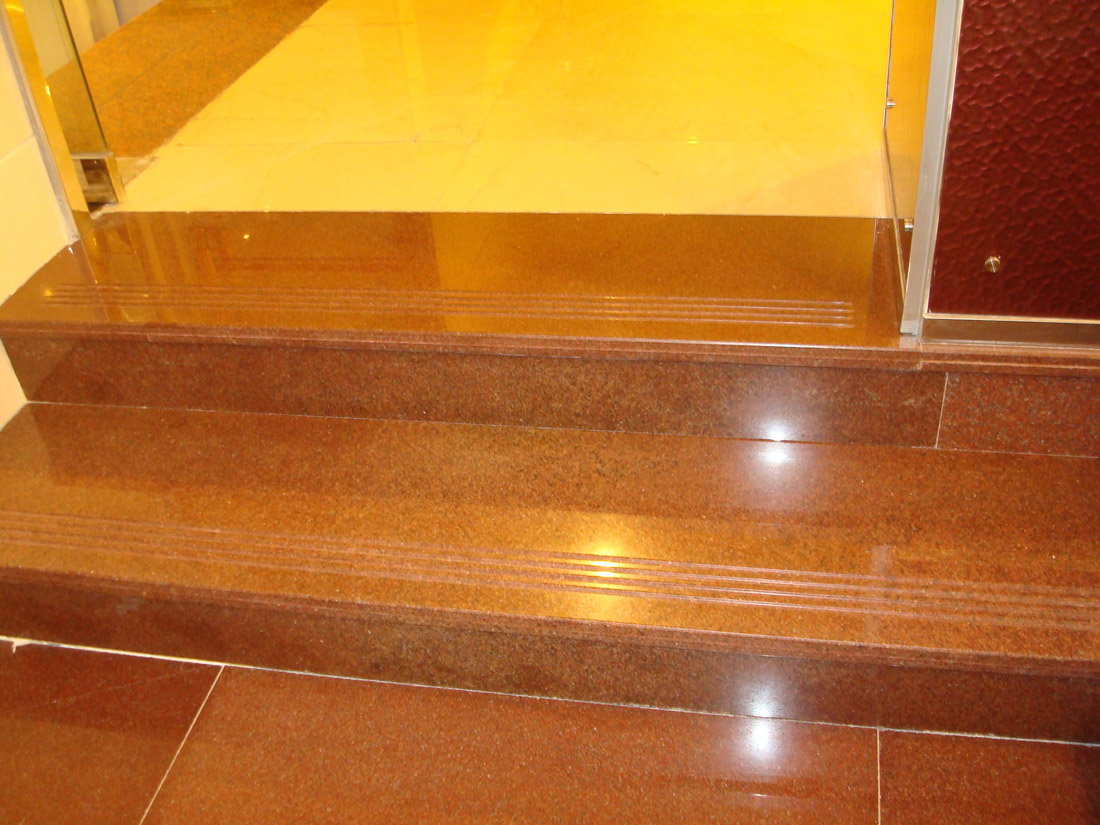 Chinese Polished Red Stone Granite Steps