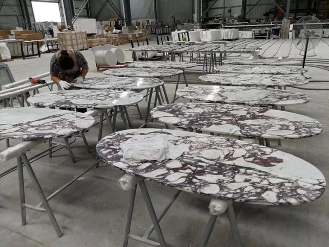 Chinese Polished Stone Table Tops