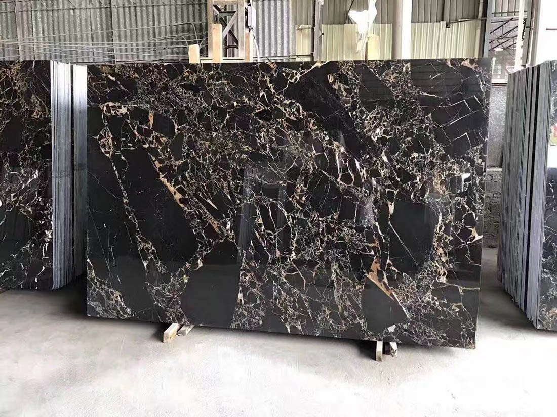 Chinese Portoro Gold Marble Chinese Black Beauty Marble Slabs