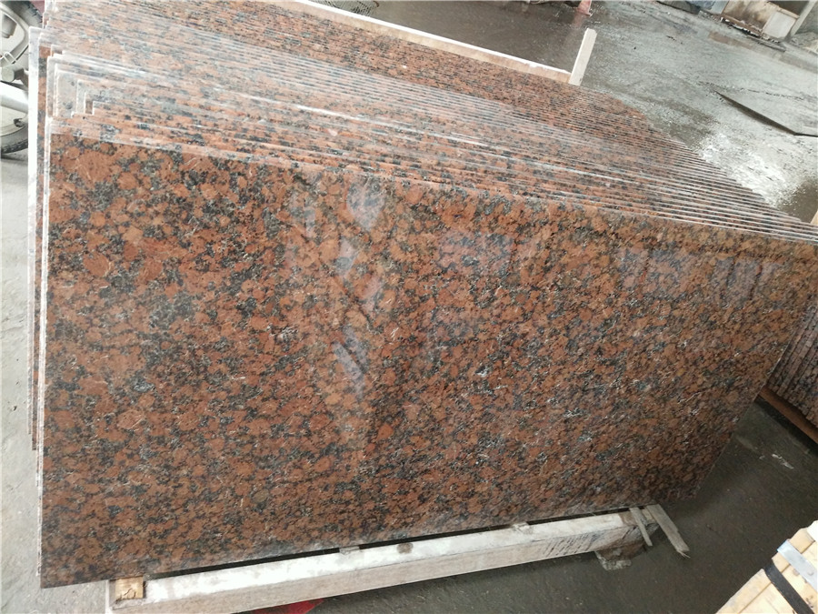 Chinese Red Polished Countertops Carmen Red Granite Tops