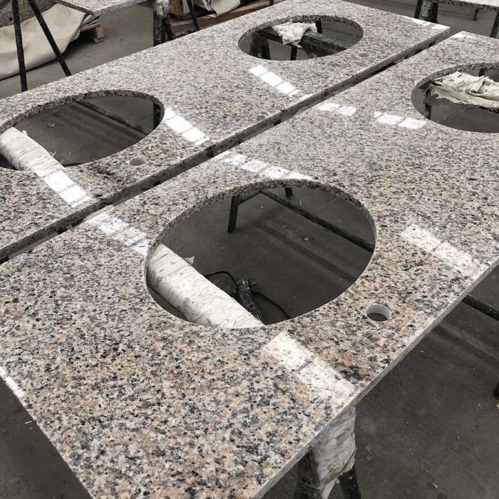 Chinese Tiger Skin Red Granite Vanity Tops