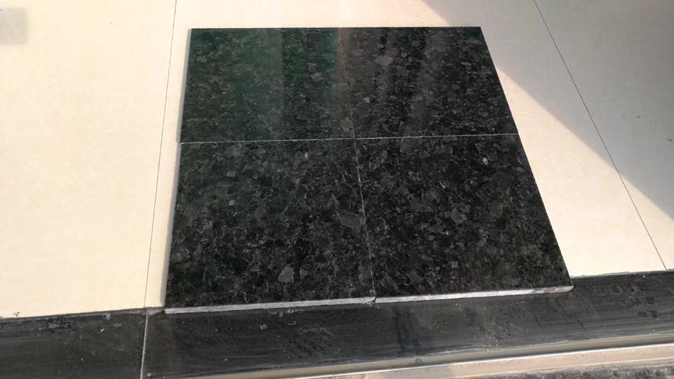 Chinese Ubatuba Black Polished Granite Tiles