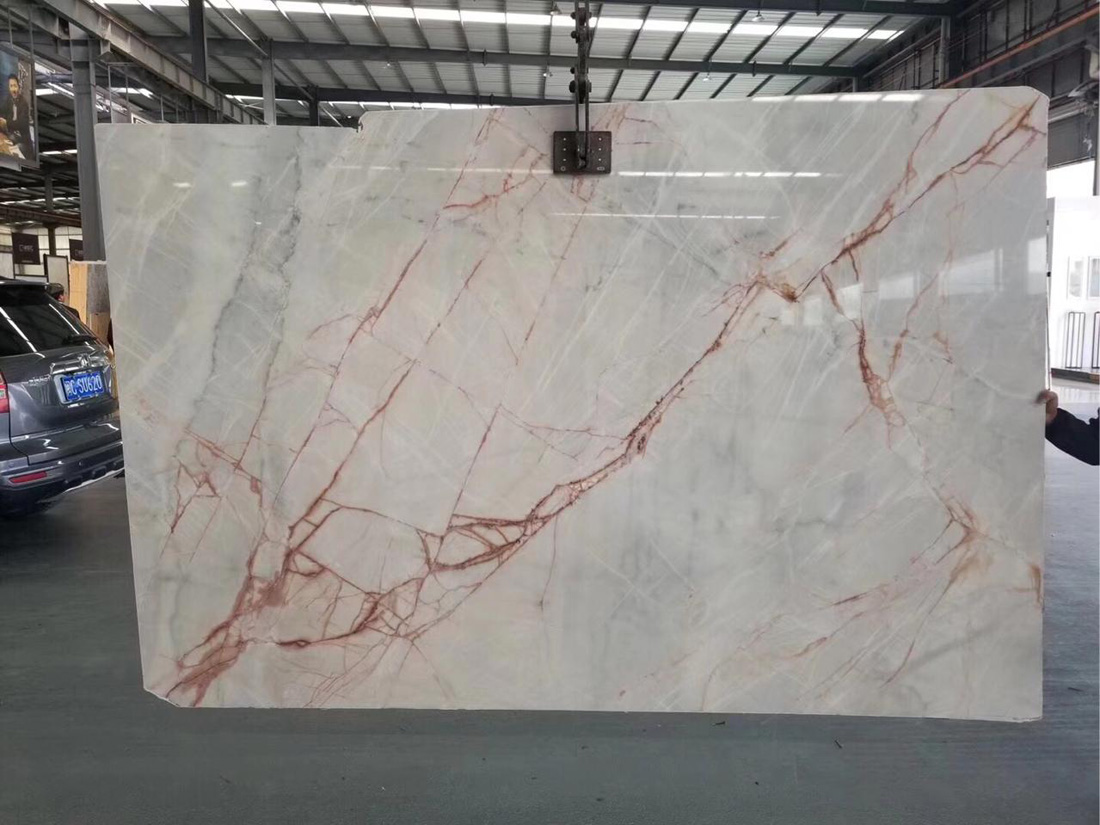 Chinese White Ash Marble Polished White Natural Slabs