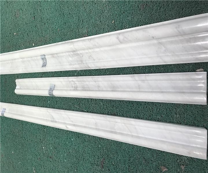 Chinese White Marble Line Moulding