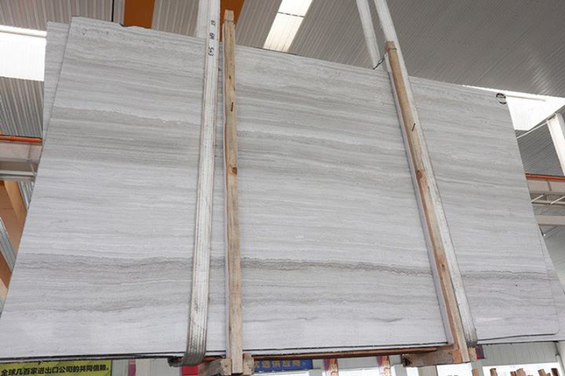 Chinese White Marble Slabs White Wooden Slabs 2cm