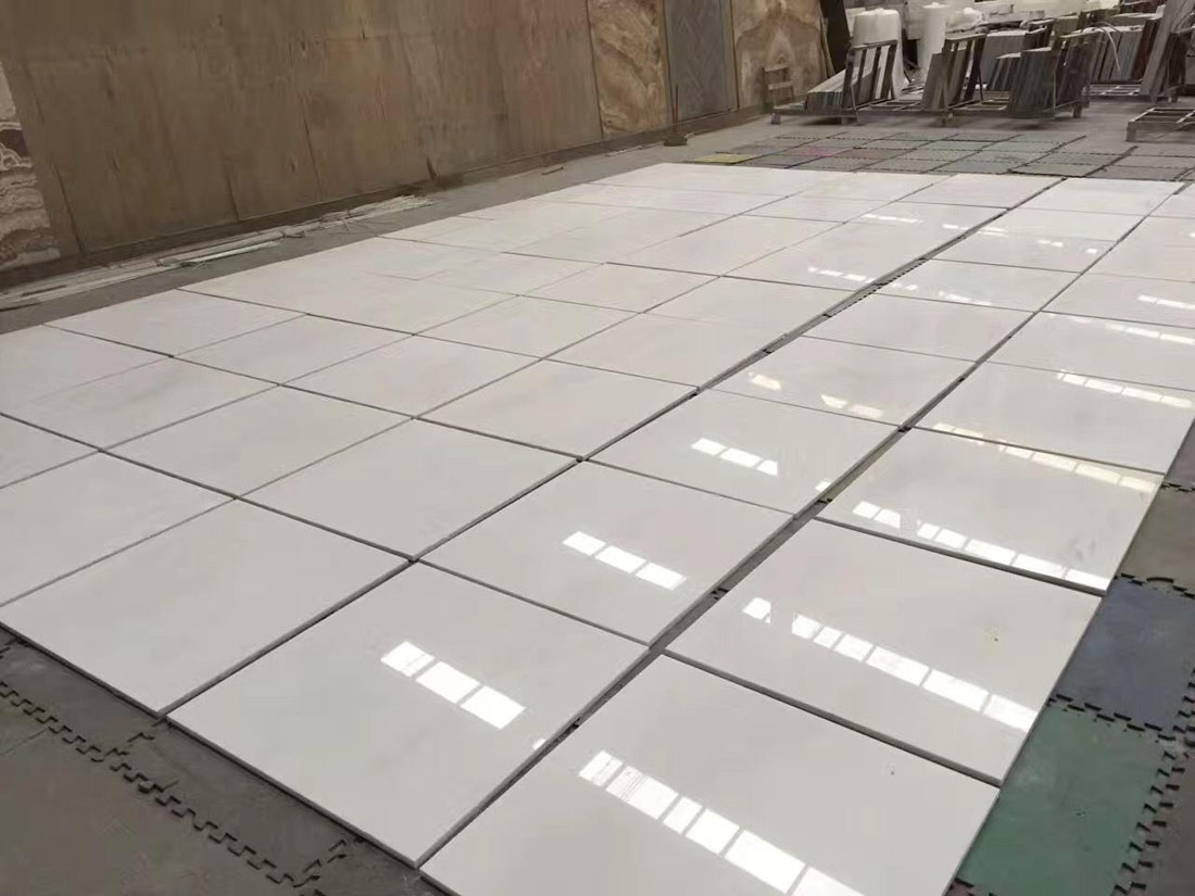 Chinese White Marble Tiles for Flooring