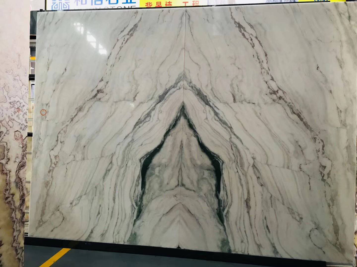Chinese White Marble with Black Veins Marble