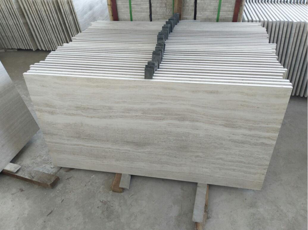 Chinese White Wooden Vain Marble Tiles