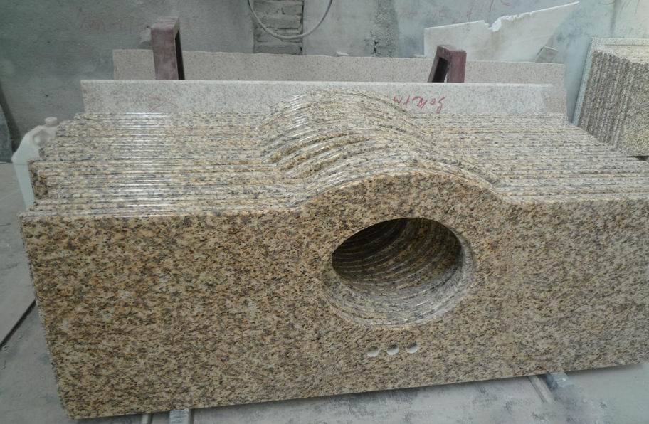 Chinese Yellow Rust Granite Countertops