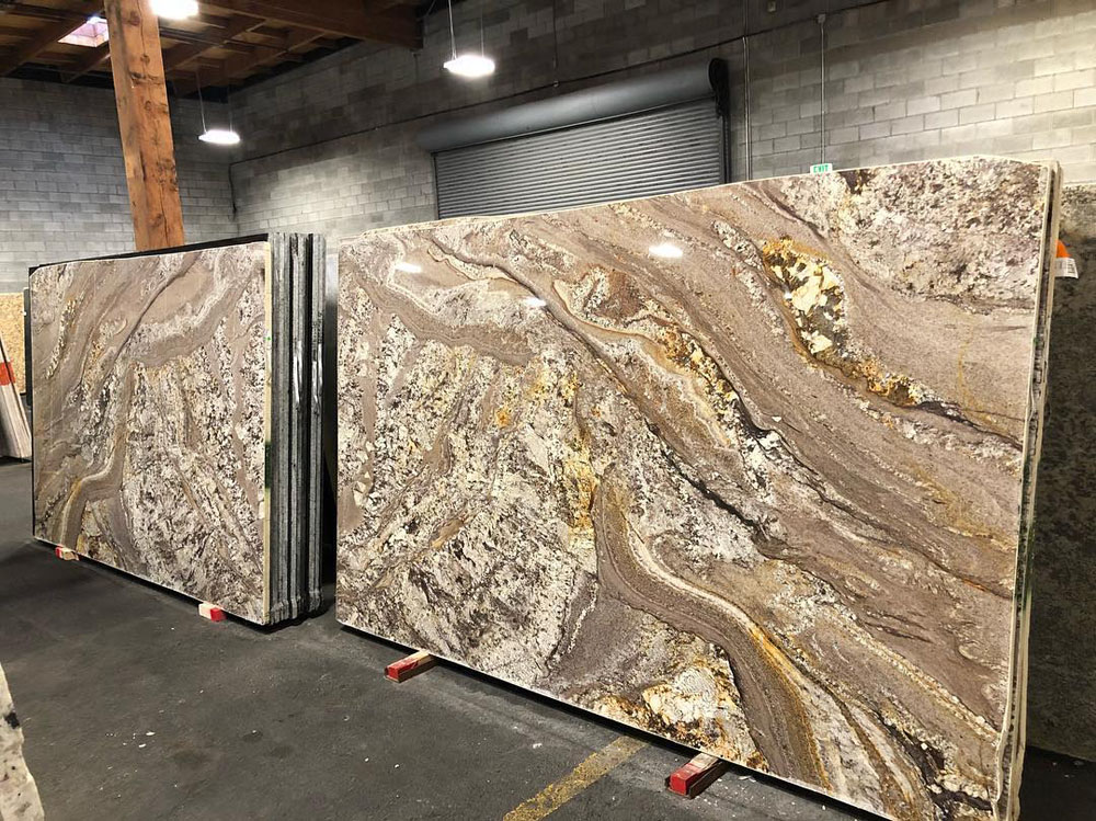 Chocolate Bordeaux Granite Bookmatched Polished Slabs