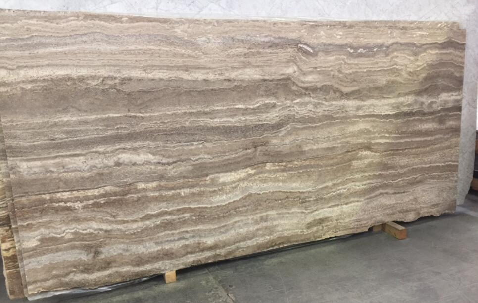 Chocolate Travertine Slabs Brown Travertine Stone Slabs