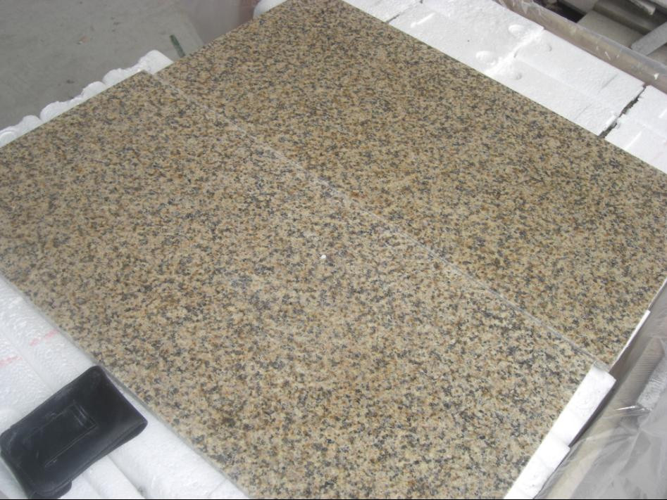 Chrysanthemum Yellow Granite Tiles Yellow Granite Floor Tiles
