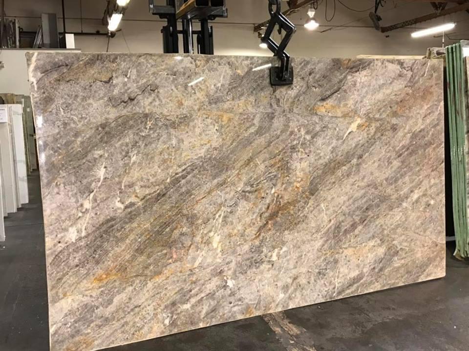Cielo Platinum Quartzite Slab for Kitchen Countertops