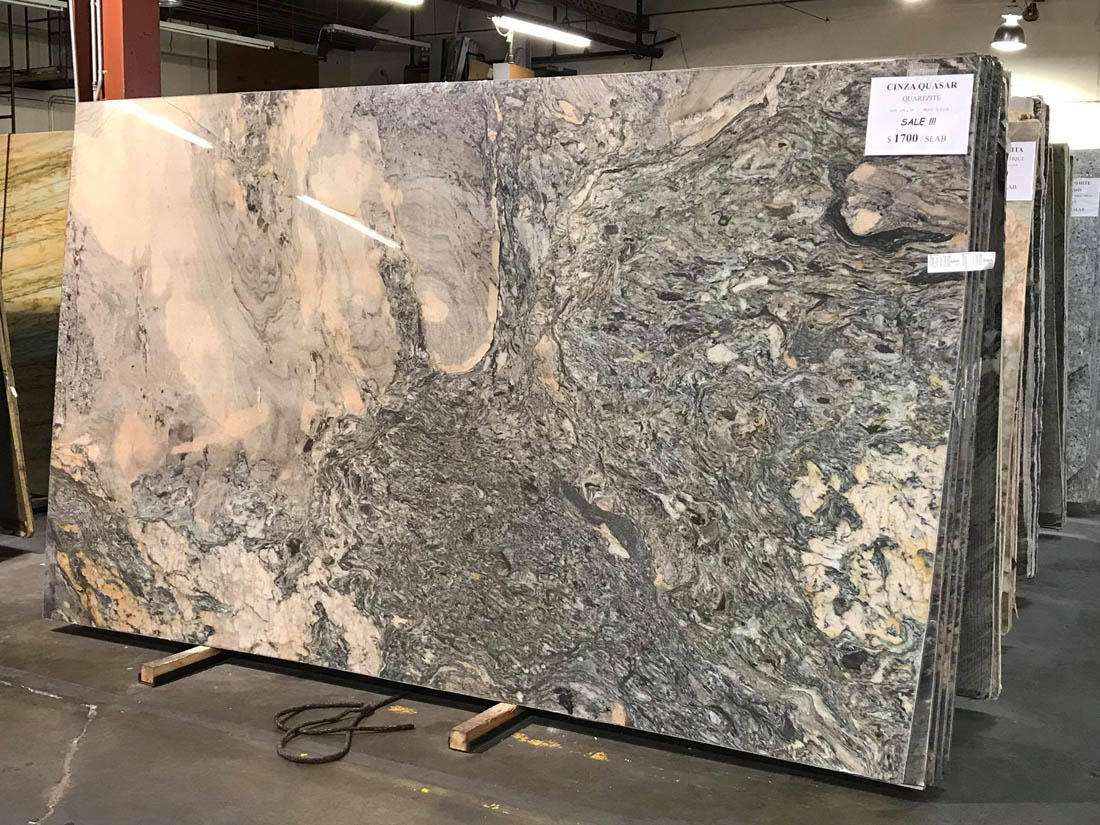 Cinza Quasar Quartzite Slabs from Brazil