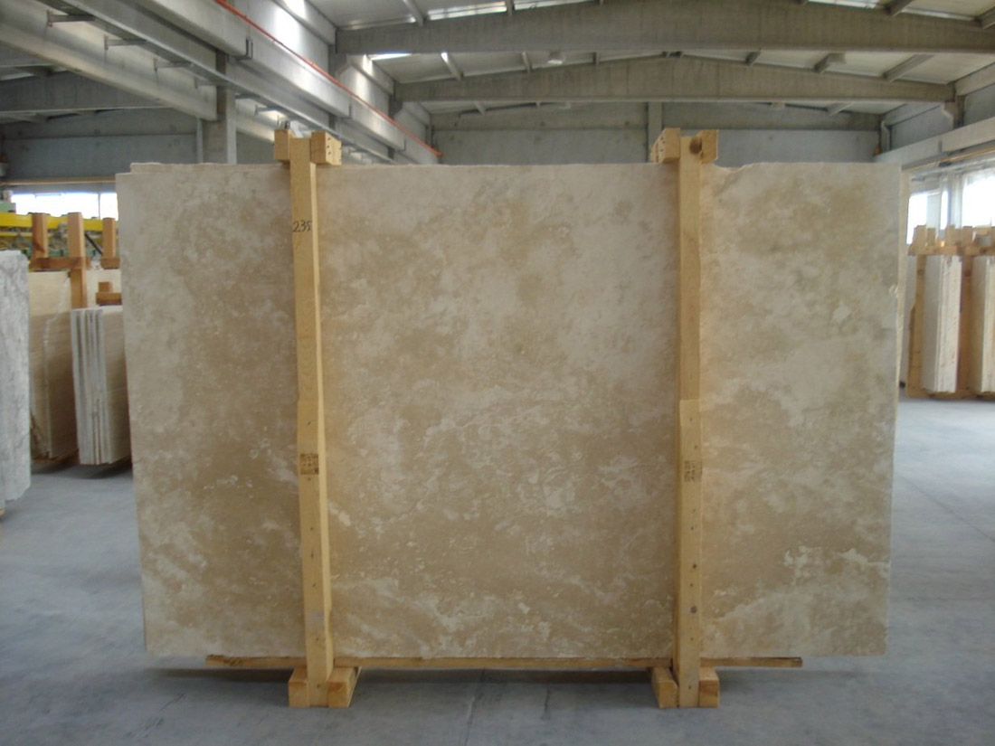 Classic Light Travertine Slabs Yellow Travertine Stone Slabs