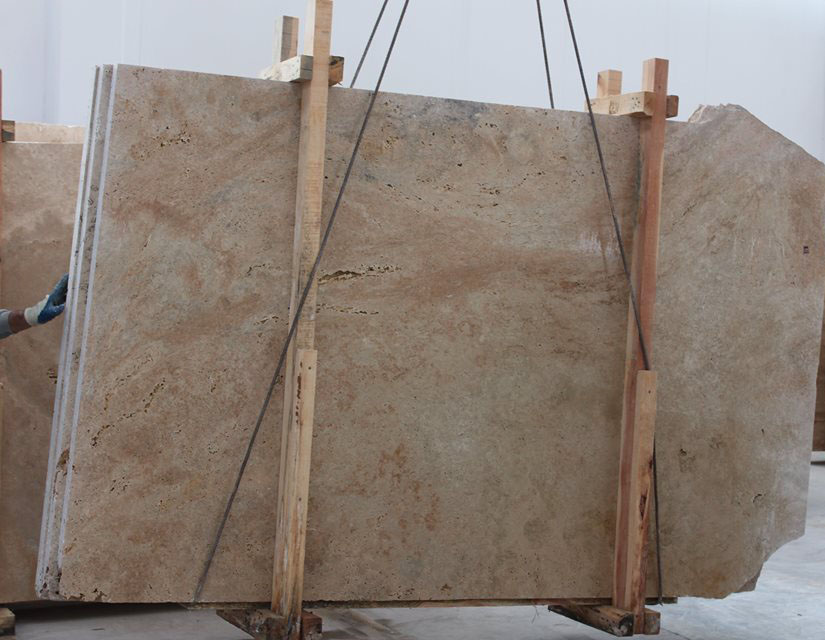 Classic Travertine Honed Slabs Beige Travertine Slabs