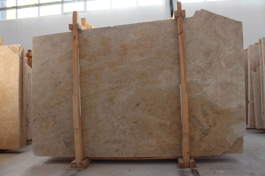 Classic Travertine Honed Turkish Beige Travertine Slabs