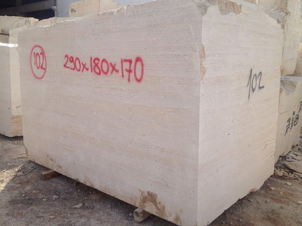 Classic Travertine Natural Blocks Beige Travertine Blocks