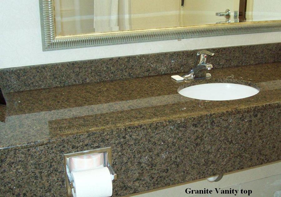 Coffee Brown Granite Bath Top