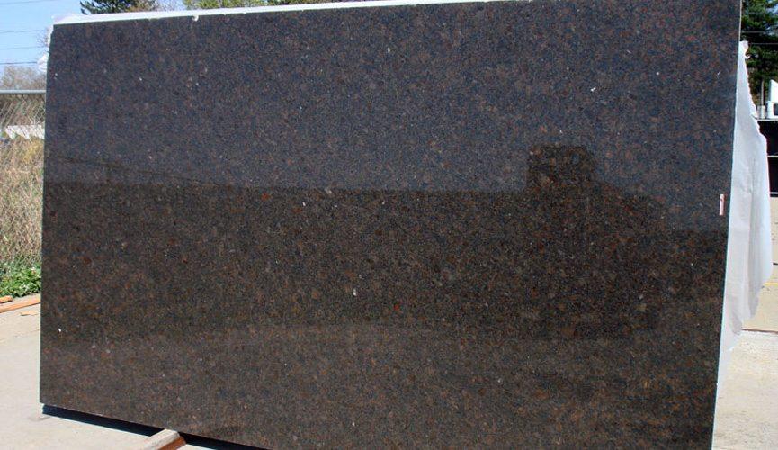 Coffee Brown Slab Polished Brown Granite Slab for Countertop