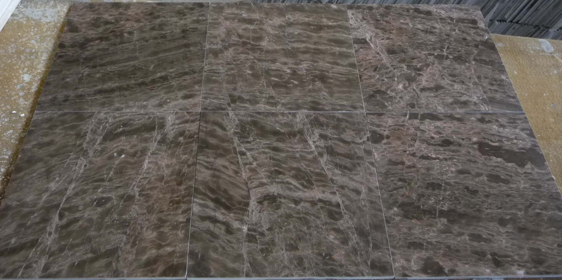 Coffee Brown Vein Cut Marble Tiles