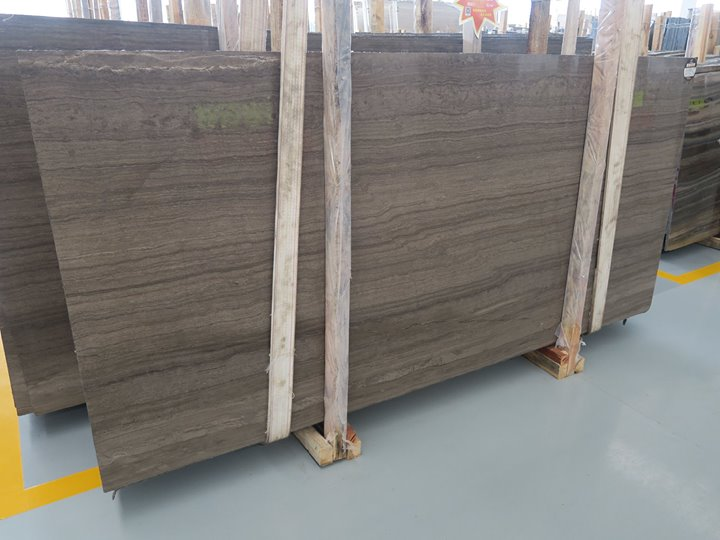 Coffee Brown Wooden Marble Slabs