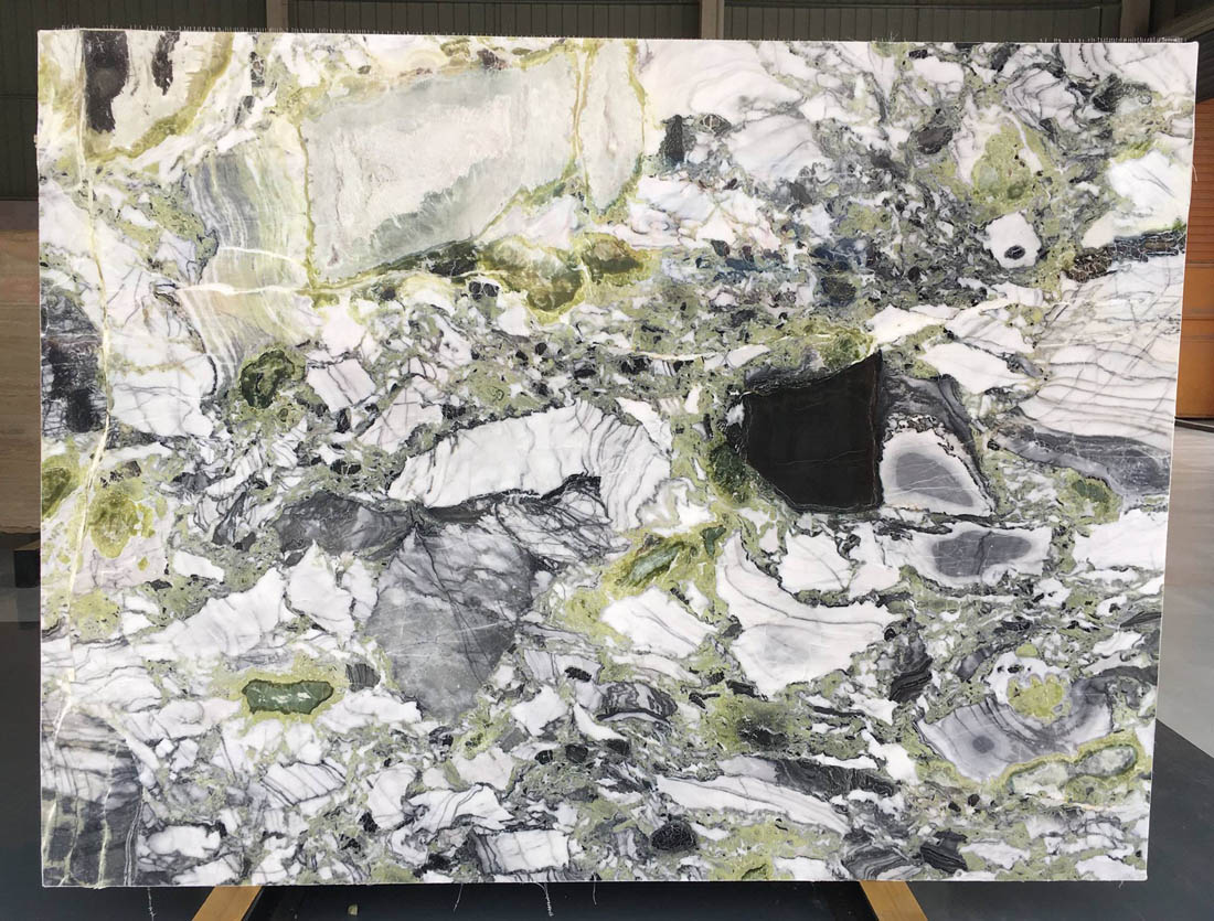 Cold Emerald Marble Slab Polished Green Marble Slabs