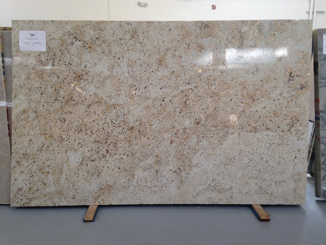 Colonial Cream Granite Slabs Polished Beige Granite Slabs