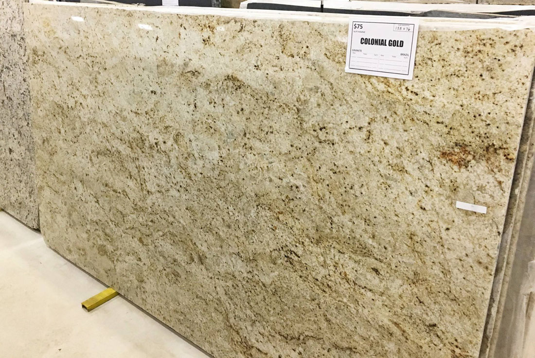 Colonial Gold Granite Slabs Beige Granite Polished Slabs