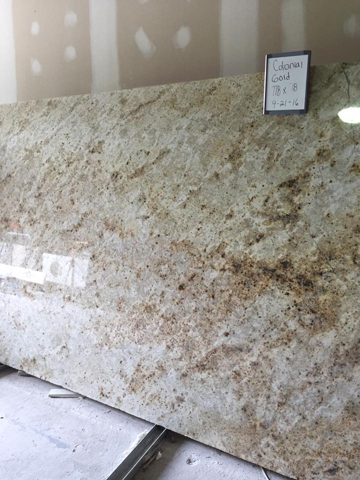 Colonial Gold Polished Beige Granite Slabs