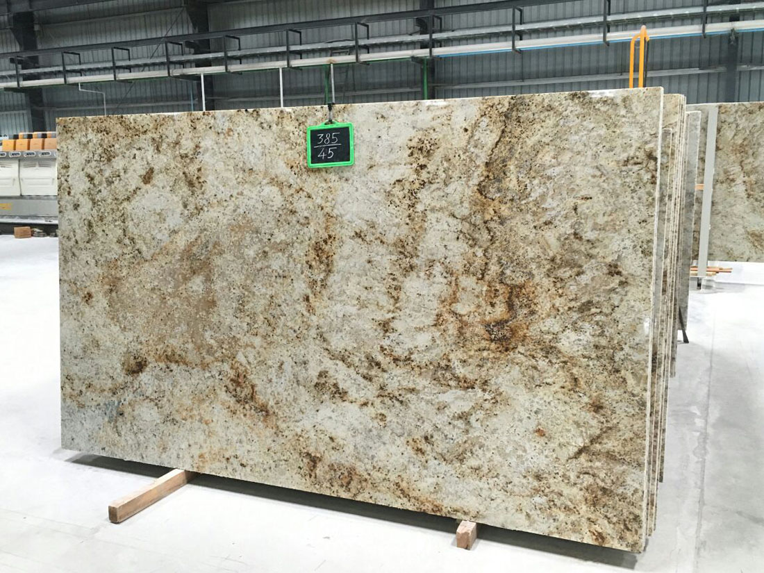 Colonial Gold Polished Granite Slabs