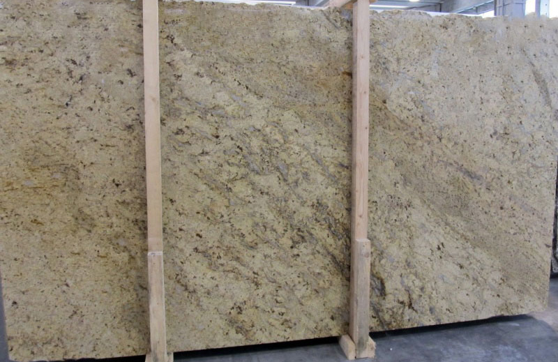 Colonial Gold Slabs Polished Yellow Indian Granite Slabs