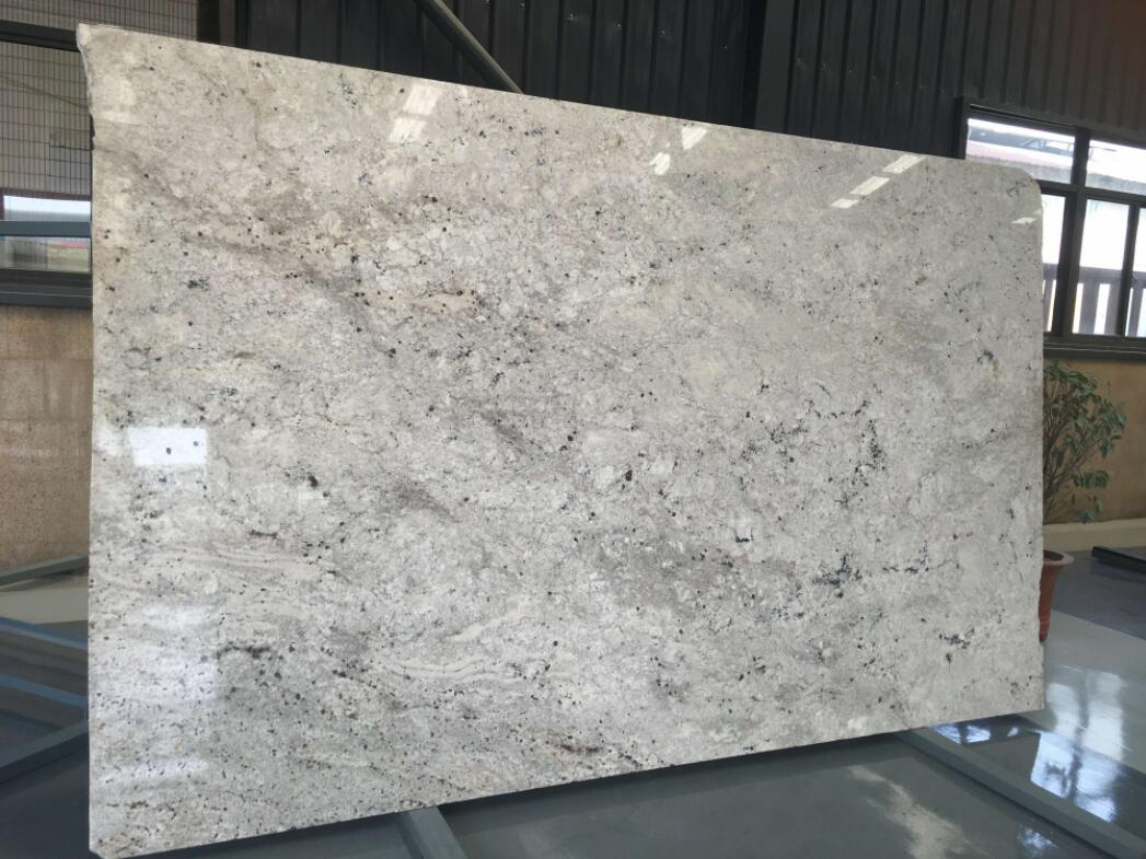 Colonial White Granite Polished White Granite Slabs