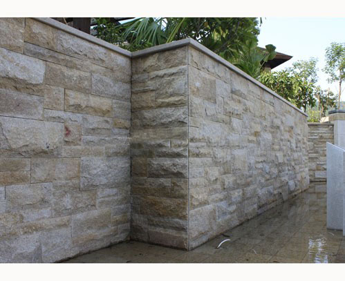 Competitive Beige Granite Mushroom Wall Stone