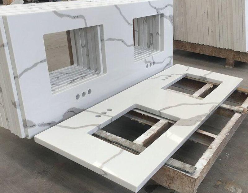 Competitive Calacatta White Mabrle Kitchen Countertop